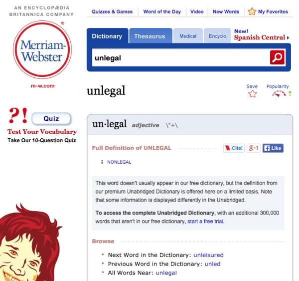 Unlegal